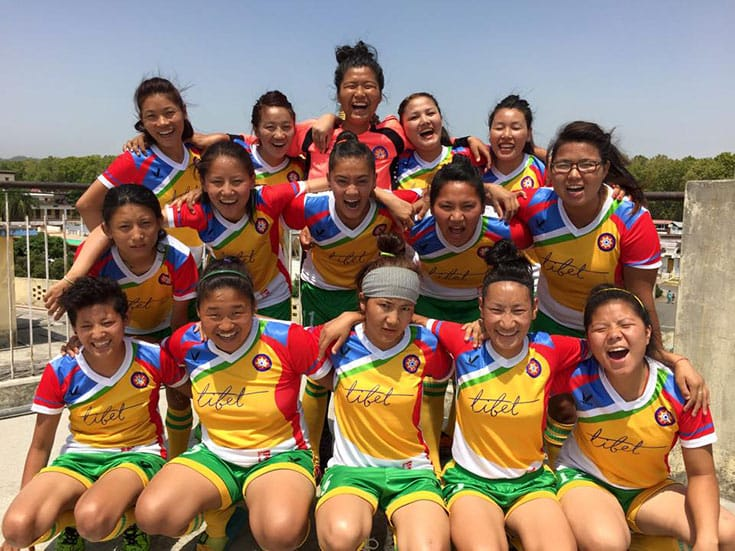 Photo via the Tibet Women's Soccer team on Facebook.