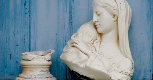 Broken statue.