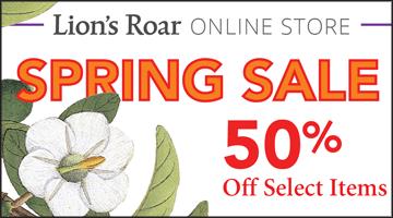 Lion's Roar Online Store Spring Sale 50% off