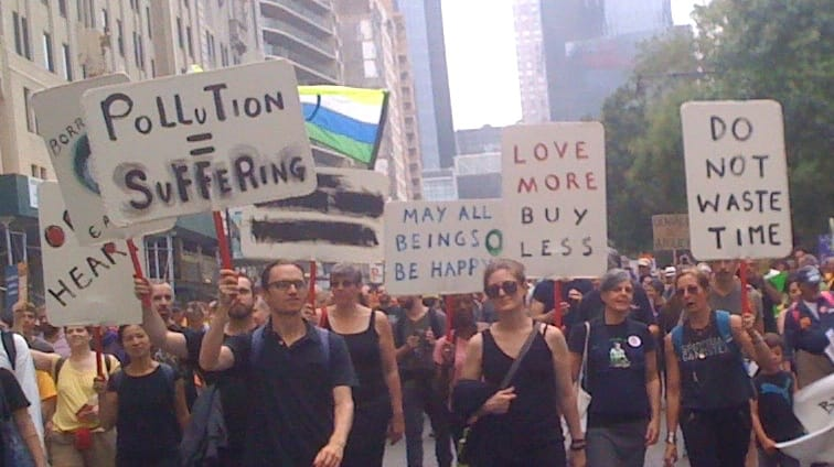 Members of Brooklyn Zen Center at 2014's People's Climate March in New York City. Photo: rgms.