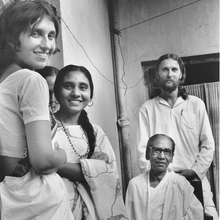Sharon Salzberg (left) and her teacher Dipa Ma (seated right). Photo courtesy of Insight Meditation Society.