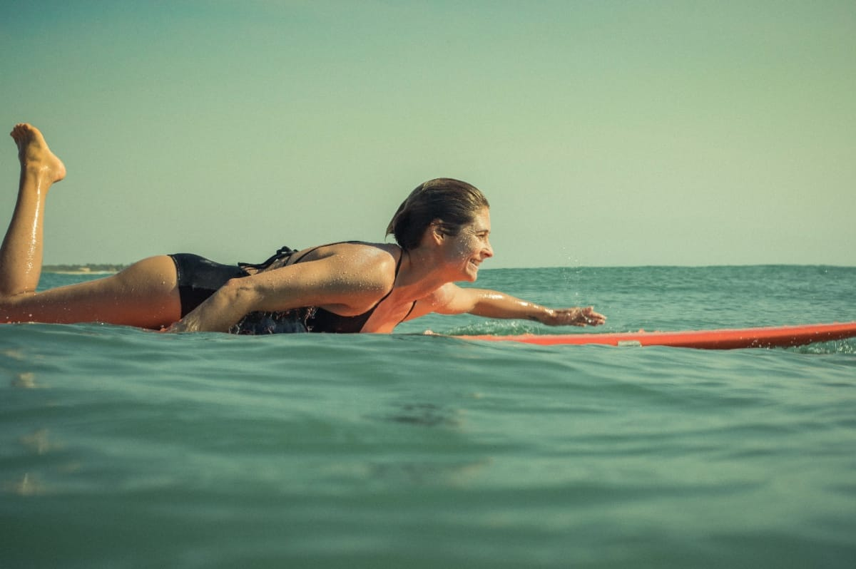 Surfer Belinda Biggs in Sri Lanka. Photo by Nathan Oldfield.