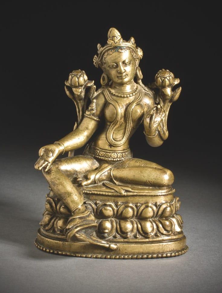 Statue of the deity tara.