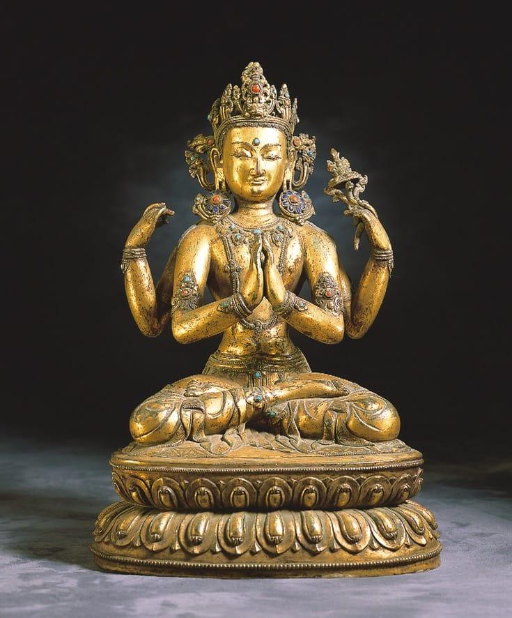 Statue of the bodhisattva Shadakshari Lokeshvara.