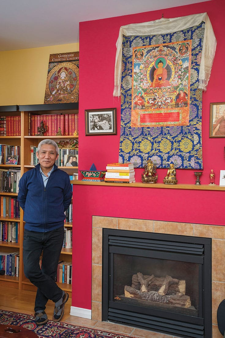 Thupten Jinpa's many projects include preserving and translating key texts through the Library of Tibetan Classics, and modernizing Tibetan grammar to make it easier for future generations of Tibetans to maintain their native language. Photo by Christine Guest.
