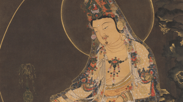 Goryeo Buddhist painting via the exhibition  webpage.