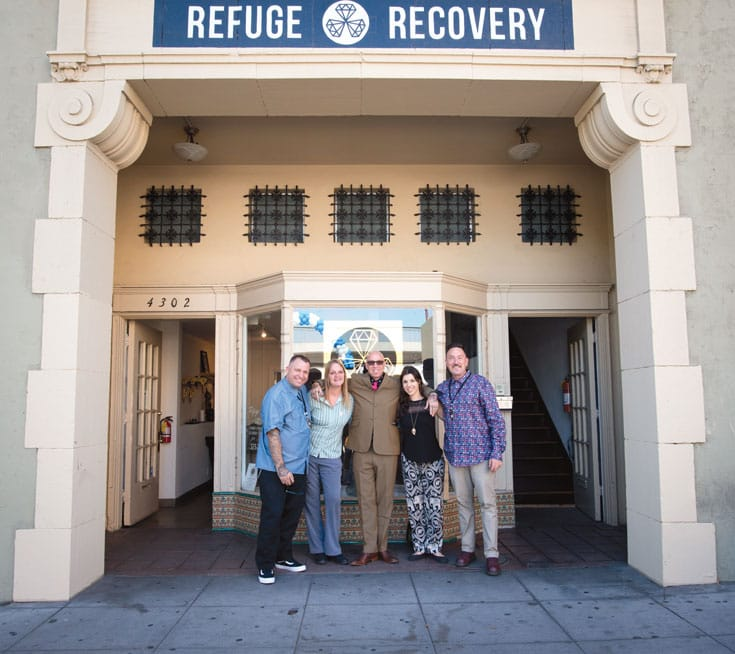 Noah Levine in front of Refuge Recovery. Photo by Sarit Z. Rogers.