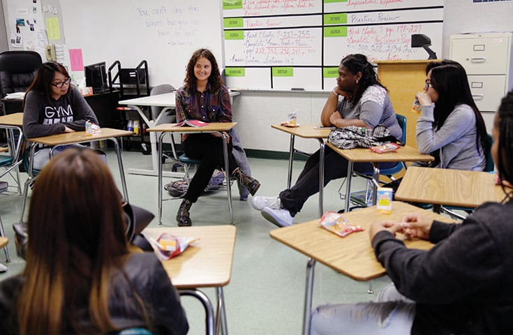 Mind Body Awareness Project classes at a high school