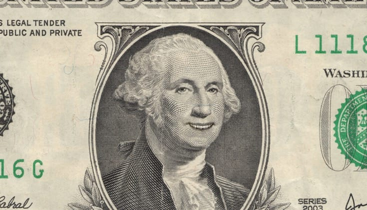 George Washington smiling.