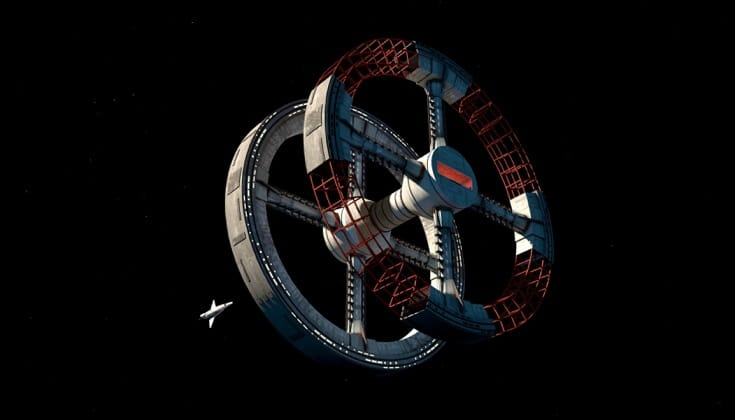 2001 A Space Odyssey Space Station Screenshot.