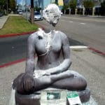 Buddha statue repeatedly vandalized with sledgehammer in L.A. neighborhood