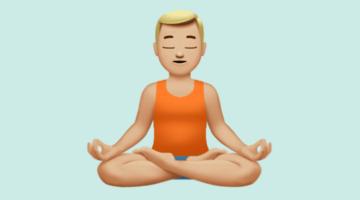 meditation emoji.