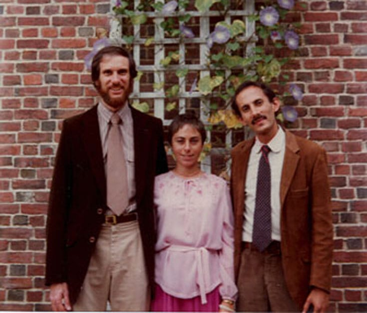 A young Jack Kornfield with Joseph Goldsteain and Jacqueline Schwartz