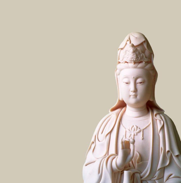 A Kuan yin statue