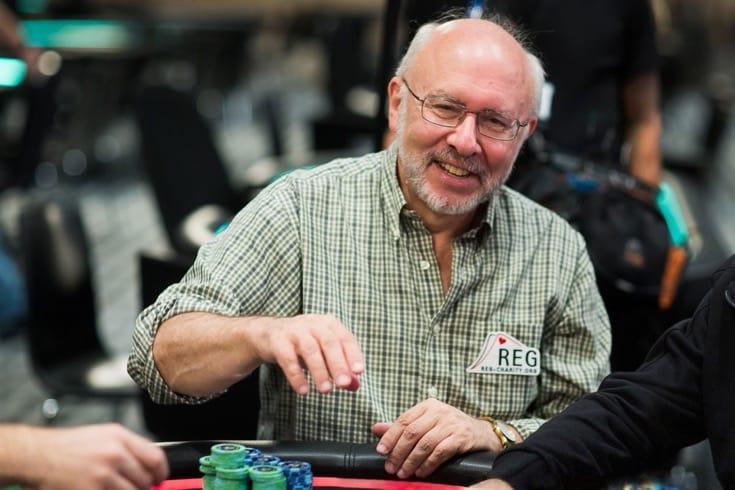 Scott Wellenbach playing poker.