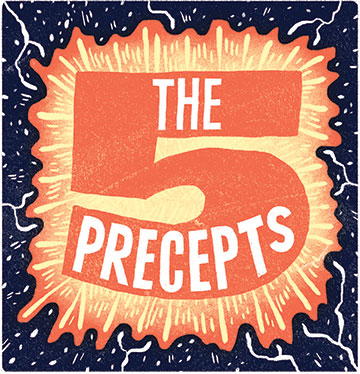 "Illustration of ""The 5 Precepts"""