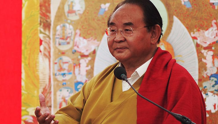 Sogyal Rinpoche receiving treatment for colon cancer