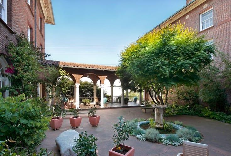 San Francisco Zen Center garden.