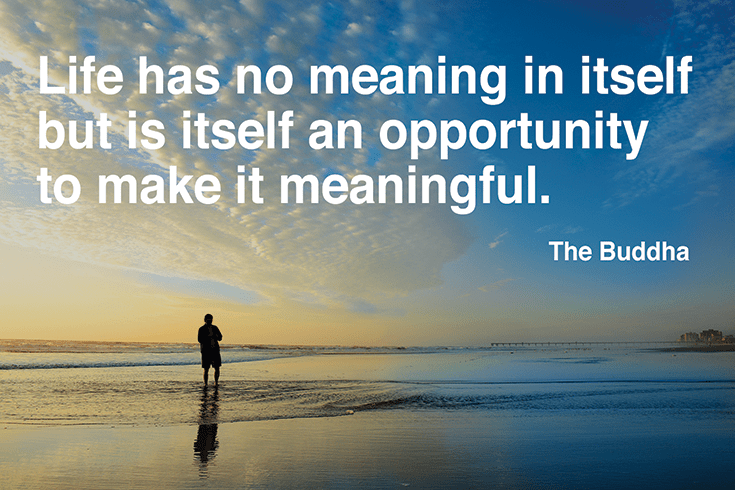 Life has no meaning in itself but it is itself an opportunity to make it meaningful.
