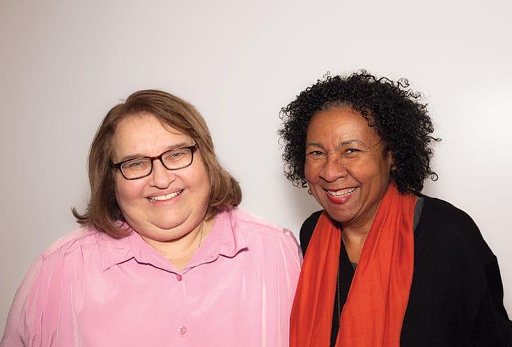 Photo of Sharon Salzberg and bell hooks smiling