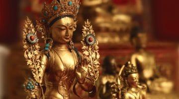 Tibetan Buddhist statues.