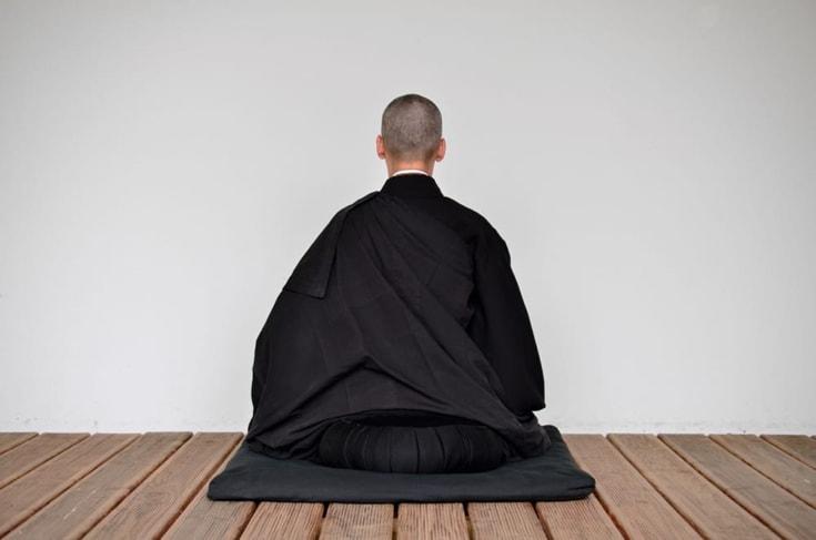 Zen monk meditating.