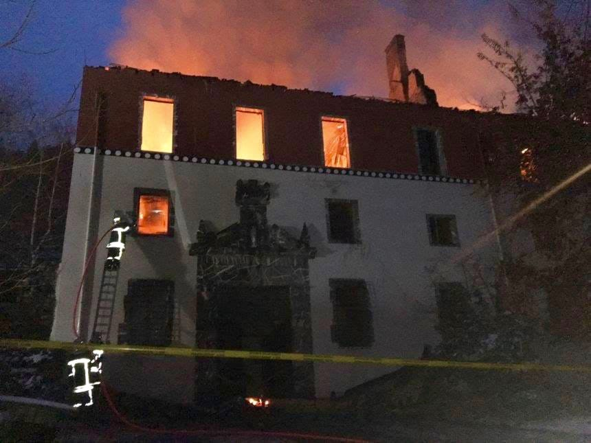 Building destroyed by fire.