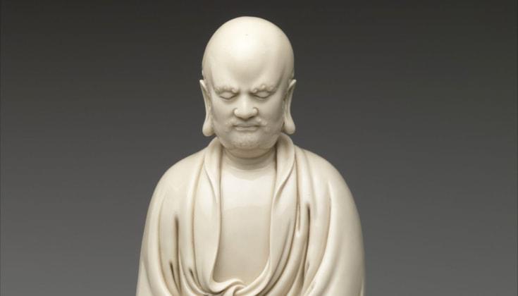 Statue of bodhidharma.