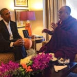 Obama meets with Dalai Lama in India
