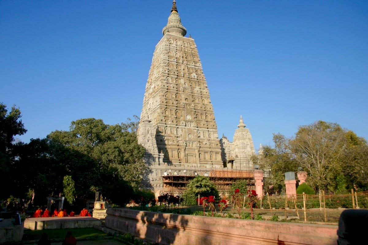 Mahabodhi temple.