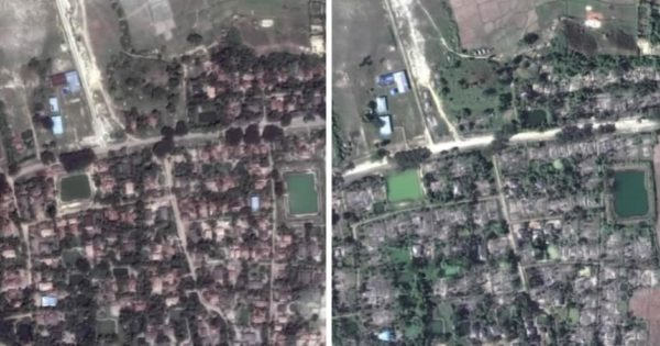 Satellite images Myanmar.