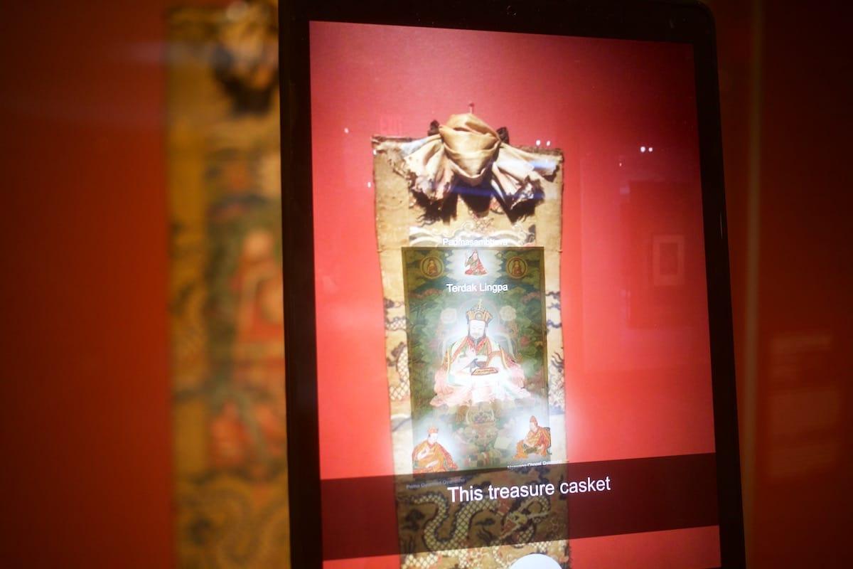 Augmented reality over Tibetan art.