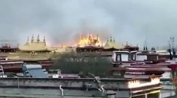 Fire erupts at Lhasa, Tibet's famed Jokhang Temple complex