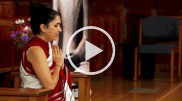 Pema Khandro Rinpoche recites a prayer to awaken bodhicitta
