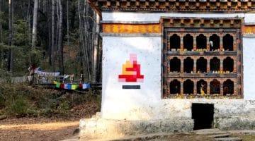 Buddhist monk mosaic.