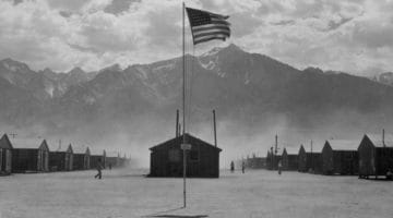 Flag at American concentration camp