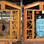 Vandalized Buddhist shrine reopens in Salt Lake City