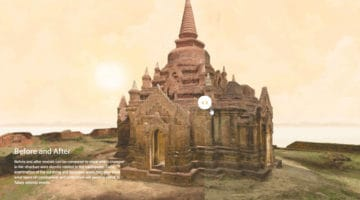 Bagan temple in virtual reality.