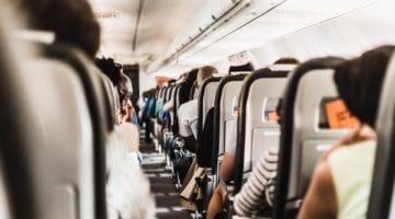 Plane aisle.