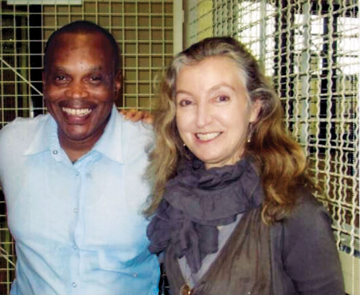 Jarvis Jay Masters and Rebecca Solnit together at San Quentin State prison