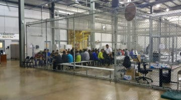 Migrant children in custody.