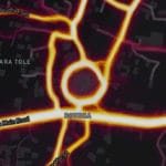 Heat maps illustrate the sacred routes of Buddhist pilgrims