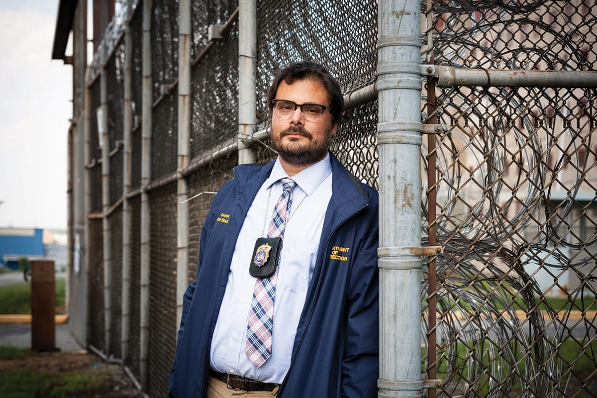 Buddhist teacher Justin von Bujdoss at Rikers Island.