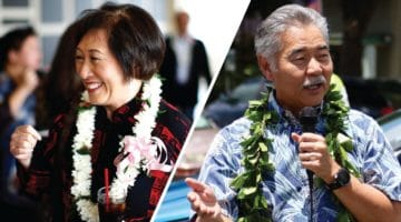 Colleen Hanabusa and David Ige