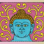 Why is the Buddha depicted with a bump on top of his head?