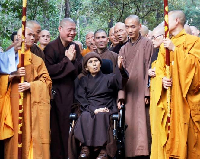 Thich Nhat Hanh to spend the rest of his life at Vietnamese temple...