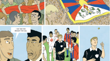 Tibetan Football team comic