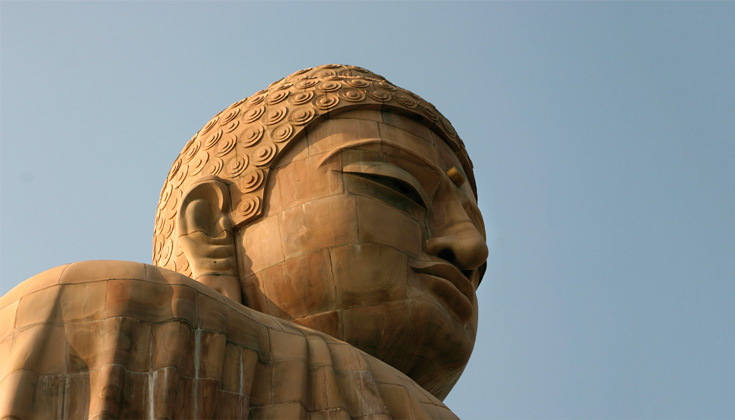 A statue of the Buddha.