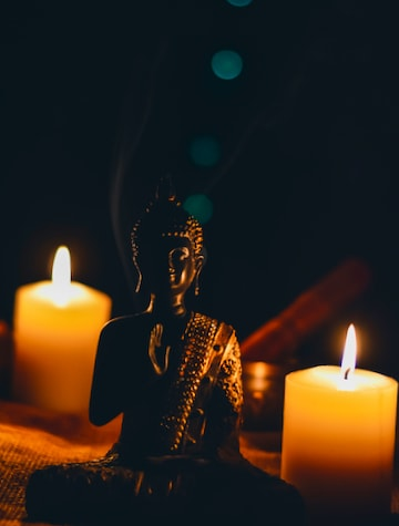 Buddha and candles.