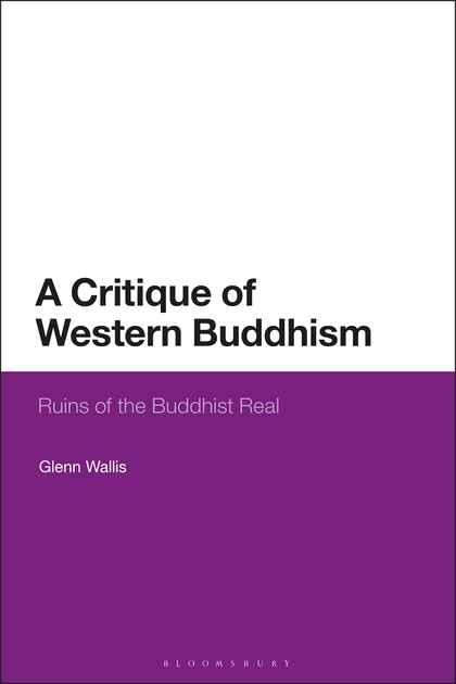 """Book cover for """"a critique of Western Buddhism."""" The bottom half of the book is purple and the top half is white."""